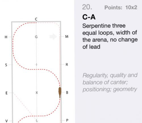 canter serpentine